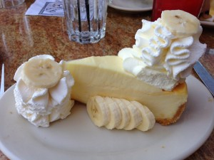 When on vacation, eat CHEESECAKE