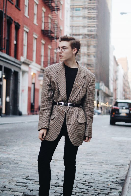 Image of a man at NYFW