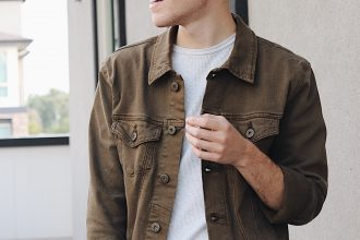 Olive Denim Trucker Jacket